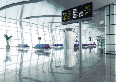 Modern Airport Departure Lounge Area